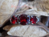 Inel Fashion Red Crystal