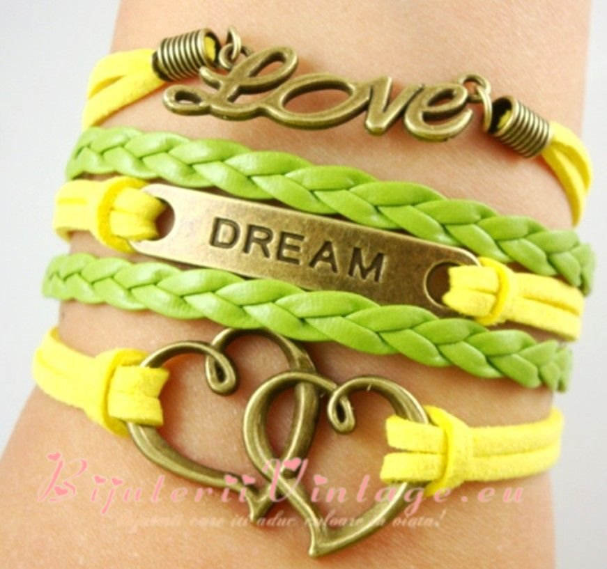 Bratara Vintage Love-Inima-Dream BV071