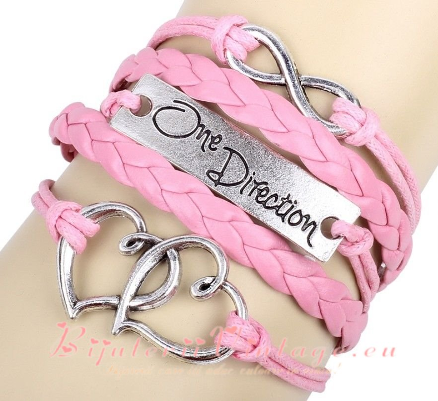 Bratara Vintage Infinit-One Direction-Heart BV090
