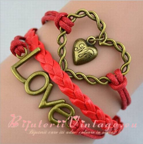 Bratara Vintage Love-Big Heart BV095